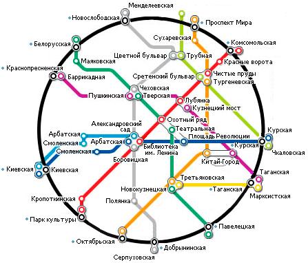 Полная схема метро