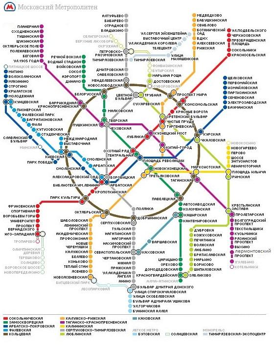 Схема метро: