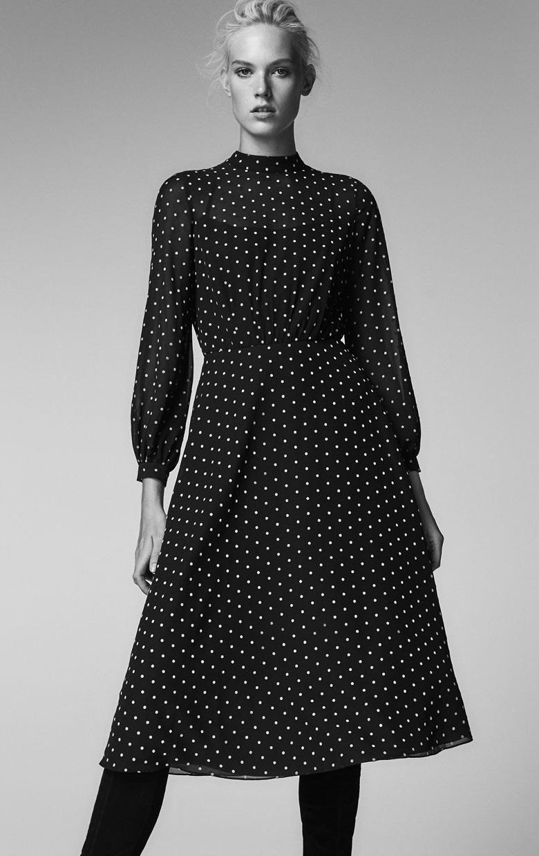 e993d27bf93 Платье черное в белый горошек