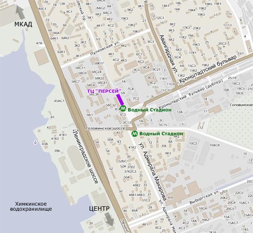 Схема ленинградское шоссе