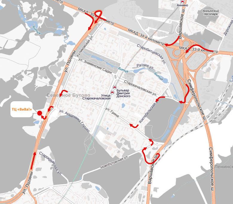 Бутово (схема проезда 1)